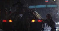 Little thieves try to rip off a Blade Runner's car