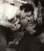 Ridley Scott directs Harrison Ford on the set of Blade Runner