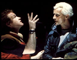 Ridley Scott directs Rutger Hauer in Blade Runner
