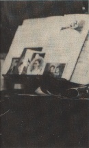 Photographs on Deckard's piano